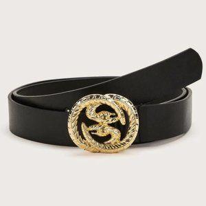 Black Snake Buckled Belt